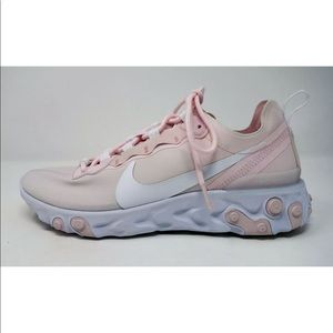 NIKE React Element 55 Sneakers Pale Pink/White